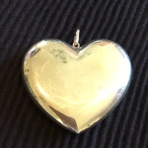 Sterling Silver 925 Large Heart Pendant